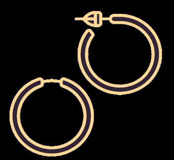 Les Boucles d'oreilles en argent, en or Krossin, vente de bijoux